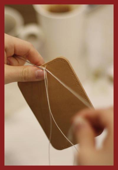 처음 만나는 가죽 : 싱글 카드 지갑