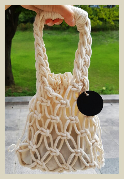위빙 & 마크라메 : 미니 가방